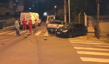 Duas pessoas ficam feridas em acidente no centro de Farroupilha